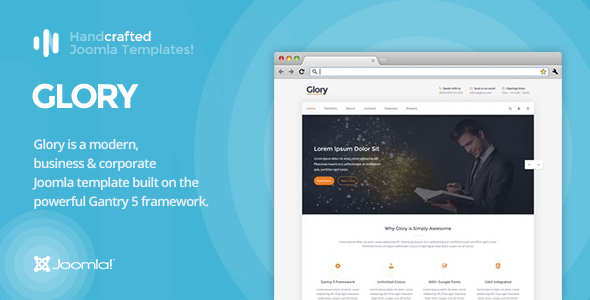 IT Glory - Gantry 5, Business & Portfolio Joomla Template