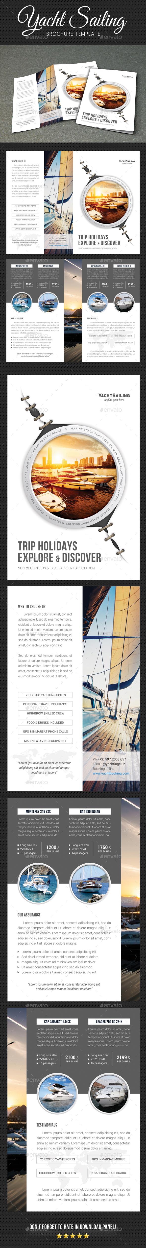 Yachting Brochure 4 - Brochures Print Templates