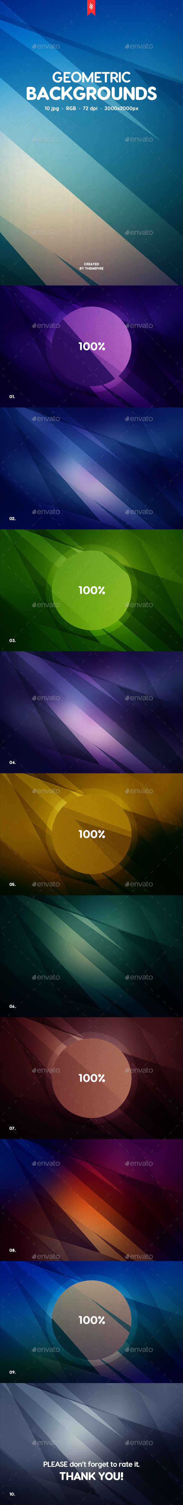 Abstract Geometric Backgrounds - Abstract Backgrounds