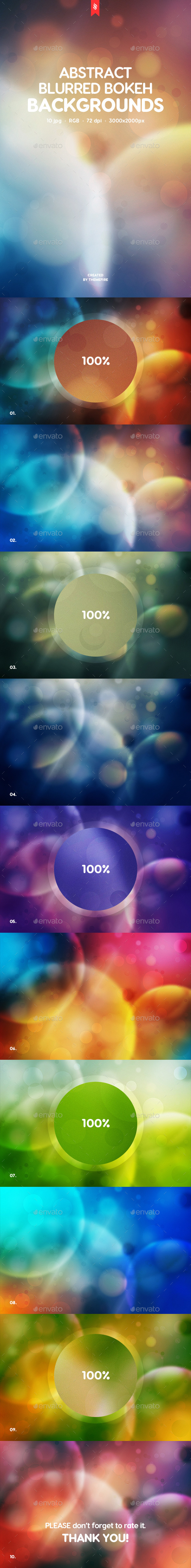 Blurred Bokeh Backgrounds - Abstract Backgrounds
