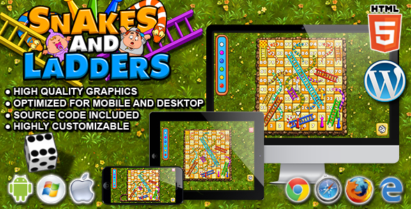 Snakes and Ladders - HTML5 Board Game - CodeCanyon Item for Sale
