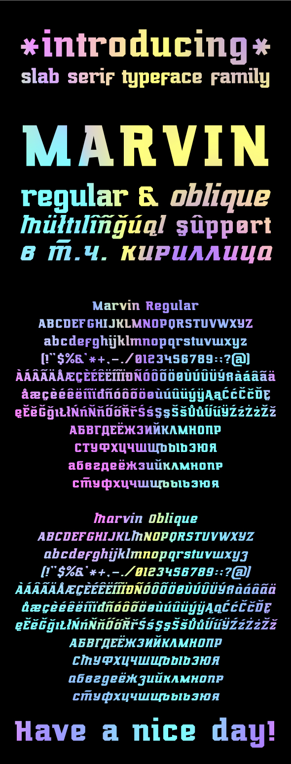 Marvin Regular & Oblique - Serif Fonts
