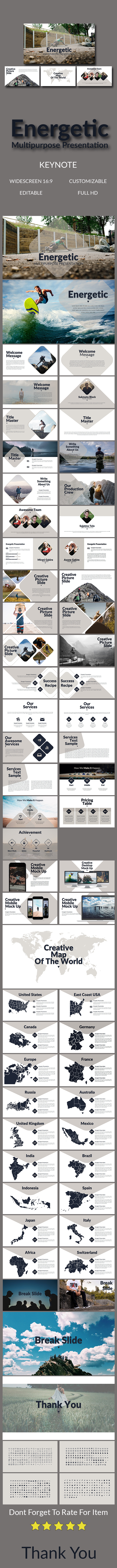 Energetic Multipurpose Presentation - Abstract Keynote Templates