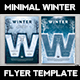 Minimal Winter Flyer Template - GraphicRiver Item for Sale