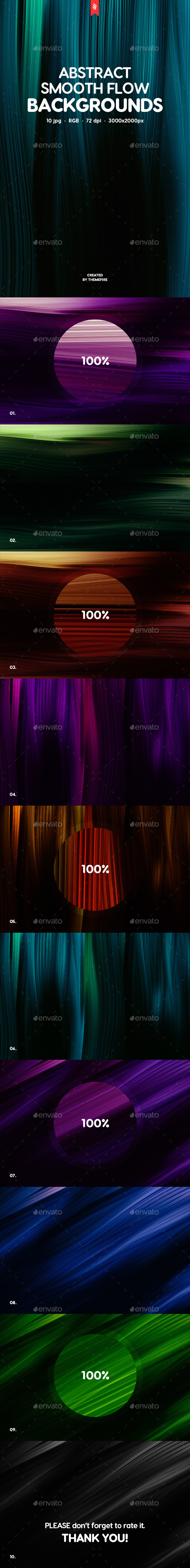 Smooth Flow Backgrounds - Abstract Backgrounds