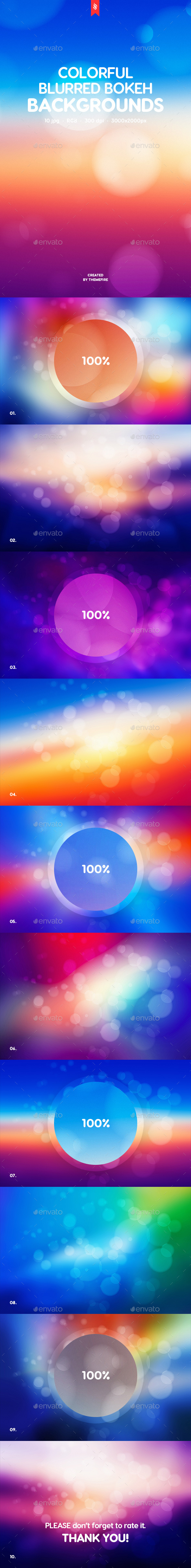 Colorful Blurred Bokeh Backgrounds - Abstract Backgrounds