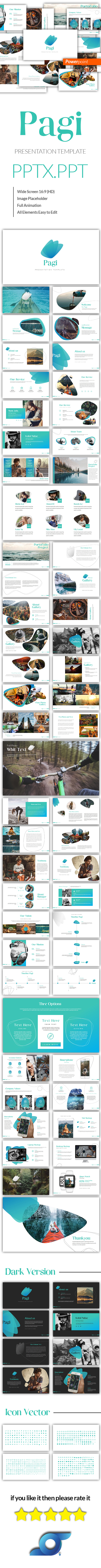 Pagi Modren Powerpoint Template - Abstract PowerPoint Templates