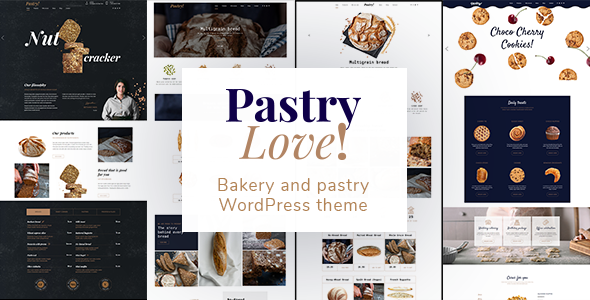 Pastry Love - Bakery and Patisserie WordPress Theme - Food Retail