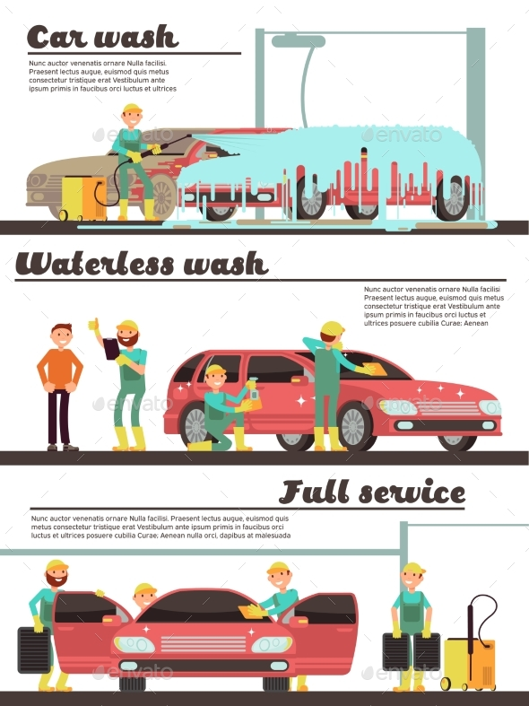 GraphicRiver Vehicle Cleaning Service and Car Washing Marketing 20703267