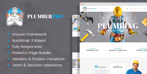 Image of PlumberPlus - Handyman Services WordPress Theme
