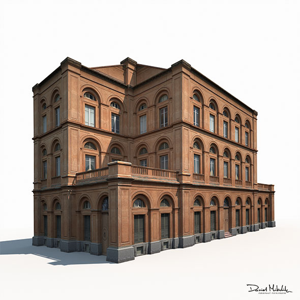 Building Facade 184 Low Poly - 3DOcean Item for Sale