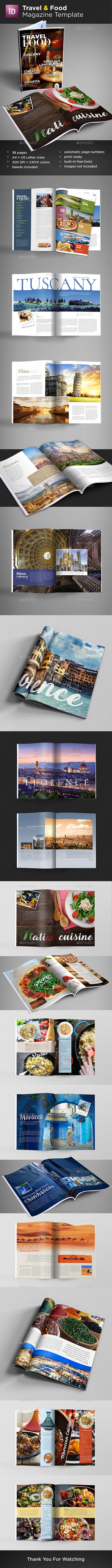 GraphicRiver Travel & Food Magazine Template 20703663