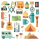 Tourists Equipment and Travel Accessories Vector