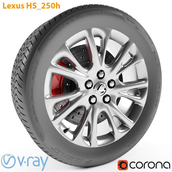 Lexus HS 250h Wheel - 3DOcean Item for Sale