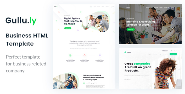 Gullu.ly - Creative Digital Agency & Multipurpose HTML Template