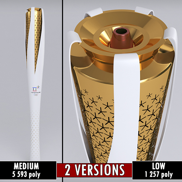 3DOcean Pyeongchang 2018 Olympic Games Torch low poly 20703929