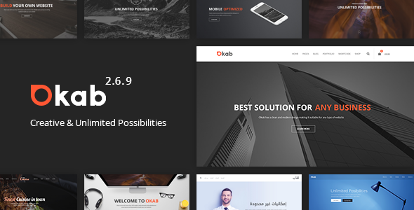 Okab - Responsive Multi-Purpose WordPress Theme