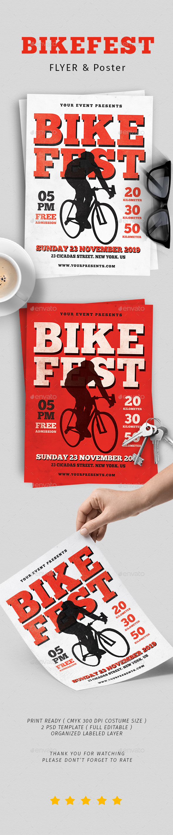 Bike Fest Flyer - Flyers Print Templates