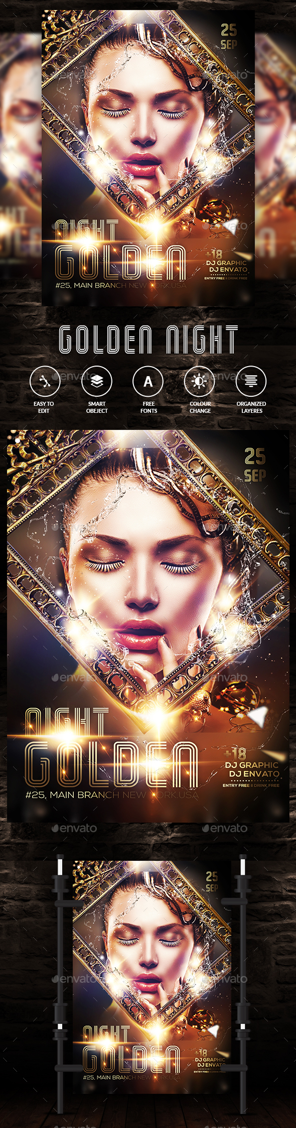 Golden Flyer - Clubs & Parties Events