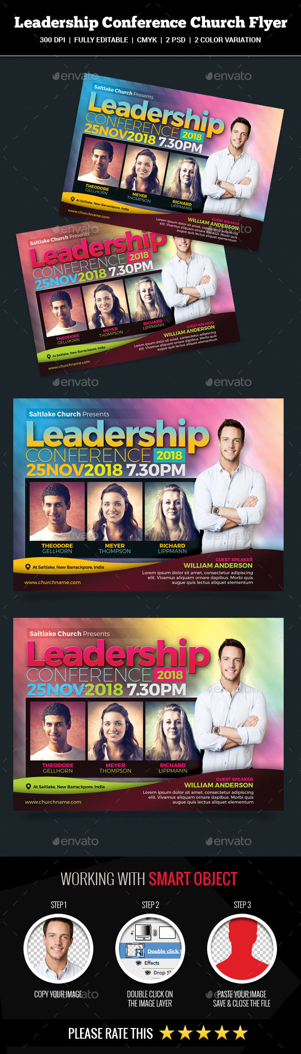 GraphicRiver Leadership Conference Church Flyer 20704042