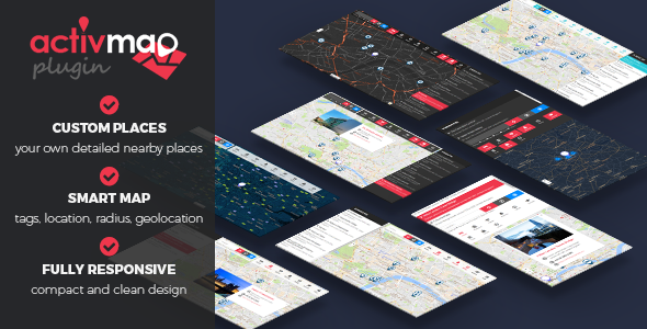 Activ'Map Nearby Places - Responsive POI Gmaps - CodeCanyon Item for Sale