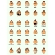 Set of 30 Monkey Emotions on White Background