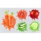 Aloe Juice, Carrots, Grapefruit, Pomegranate and Cucumber