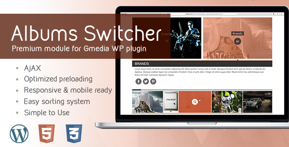 AlbumsSwitcher v1.1 | Gallery Module for Gmedia plugin - CodeCanyon Item for Sale
