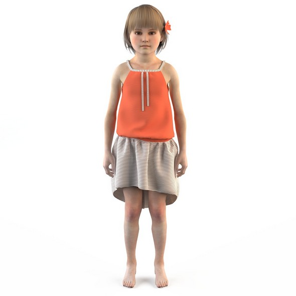 Girl dress t shirt skirt Baby clothes - 3DOcean Item for Sale