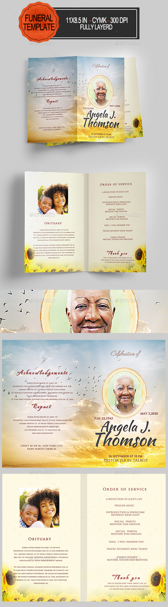 Funeral Program Template - Informational Brochures