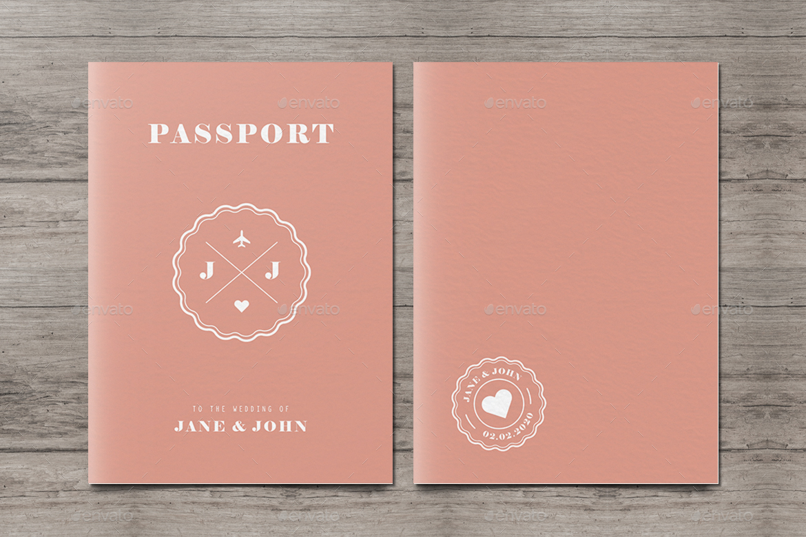 Zesms passport wedding invitation vector stopboris Gallery