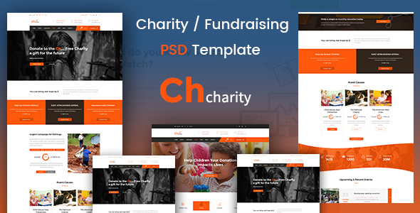 Chcharity – Charity/Fundraising PSD Template