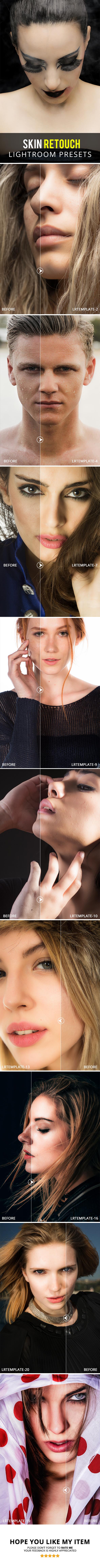 20 Skin Retouch Lightroom Presets - Lightroom Presets Add-ons
