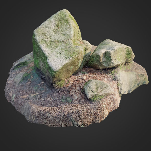 3d scanned nature stone 012 - 3DOcean Item for Sale