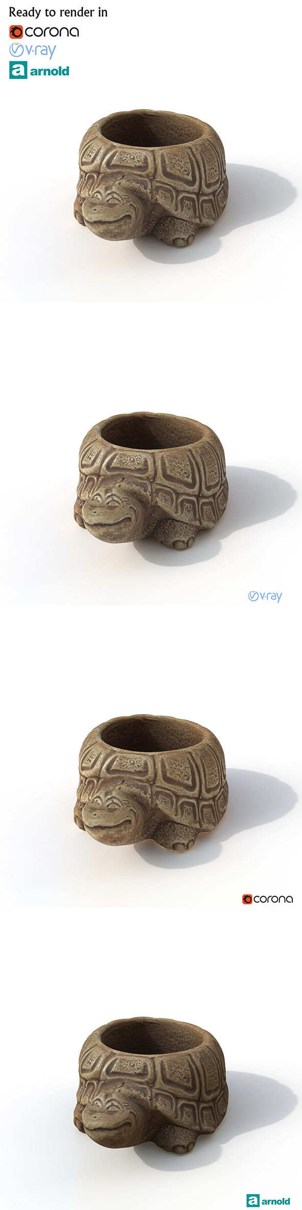 Statuette Turtle - 3DOcean Item for Sale
