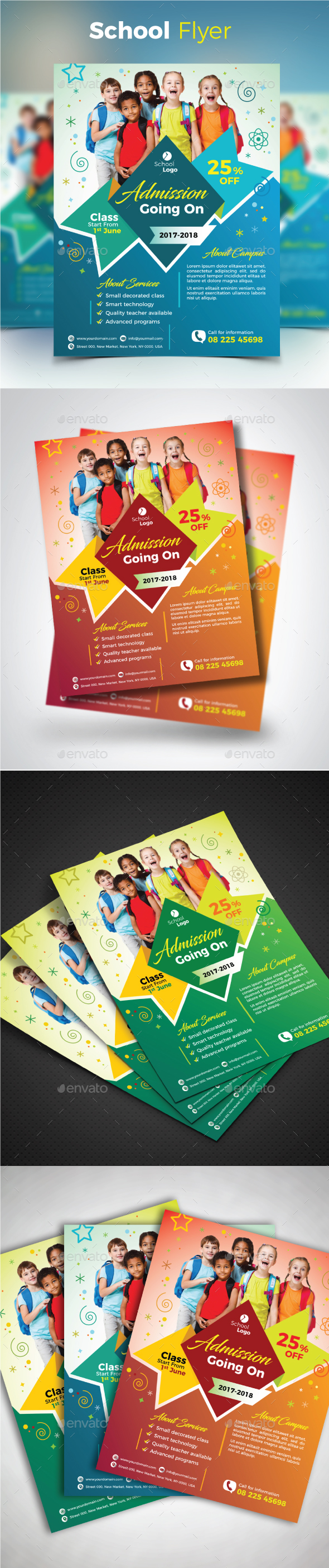 GraphicRiver School Flyer 20704624