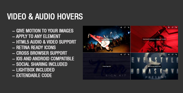 Video audio Grid wall With Youtube and Vimeo - CodeCanyon Item for Sale