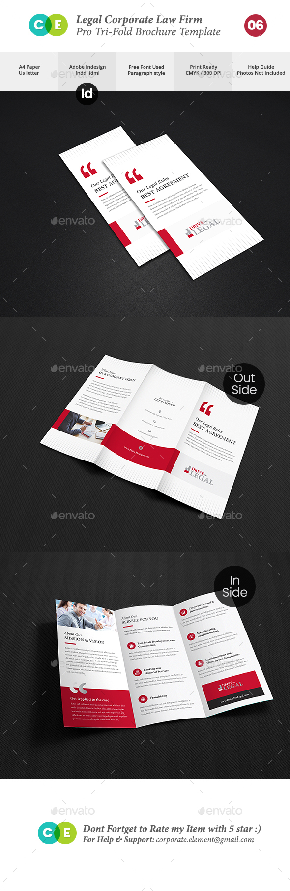 GraphicRiver Legal Corporate Law Firm Business Tri-Fold Brochure V06 20704834