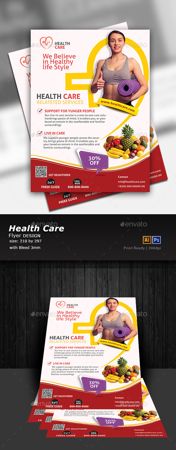 GraphicRiver Nutrition Flyer Template 20704870