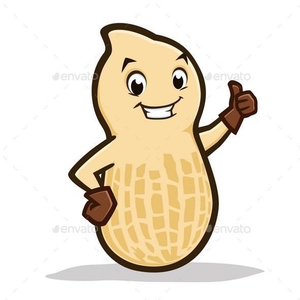 Cartoon Peanut - Food Objects