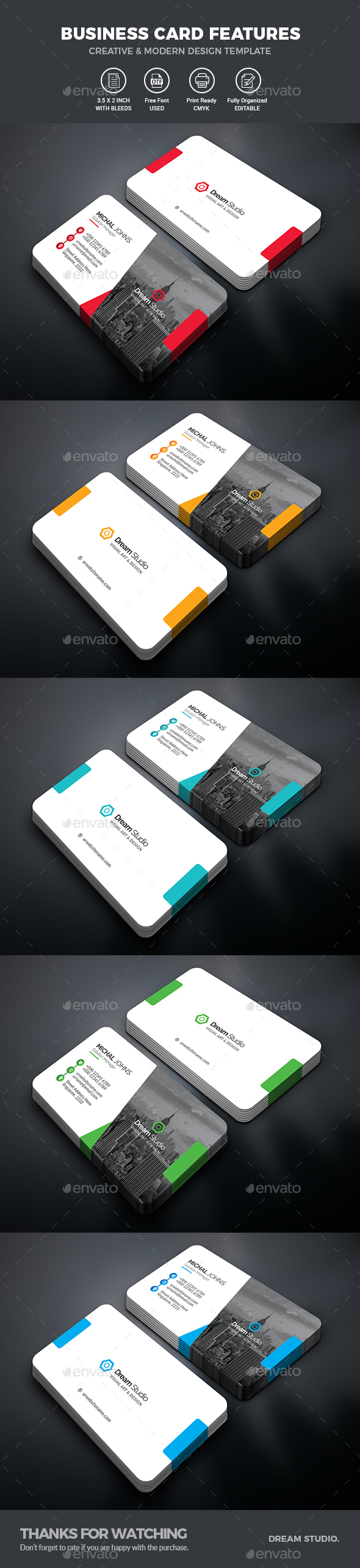 GraphicRiver Business Cards 20705083