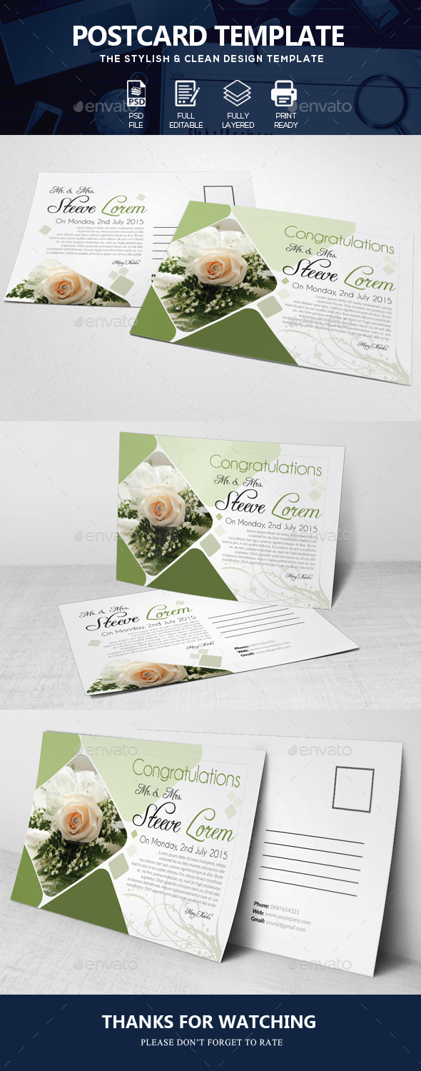 Wedding Invitation Post Cards - Corporate Flyers