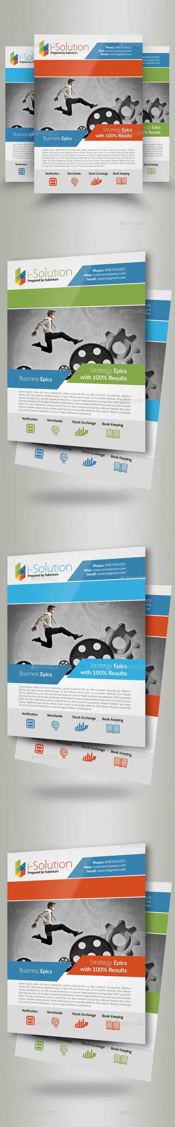 Business Dealing Flyers - Corporate Flyers