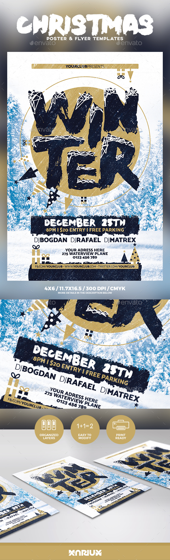 Winter Flyer & Poster - Events Flyers
