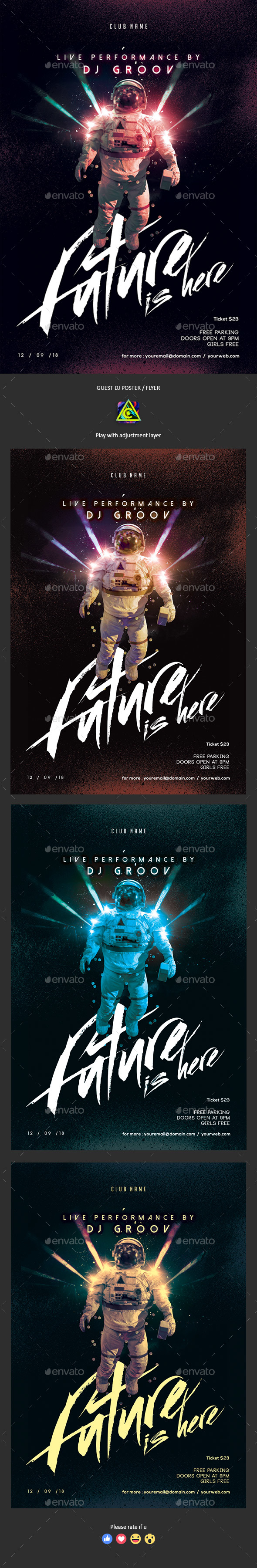 Future Is Here Poster / Flyer - Clubs & Parties Events