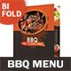 BBQ Restaurant Bifold / Halffold Menu