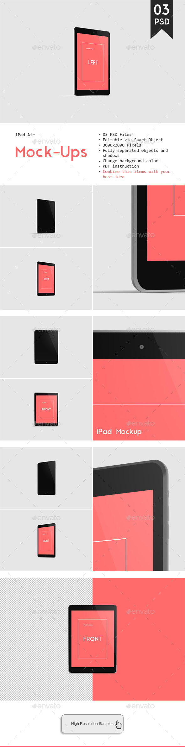 iPad Air Mockup - Website Displays