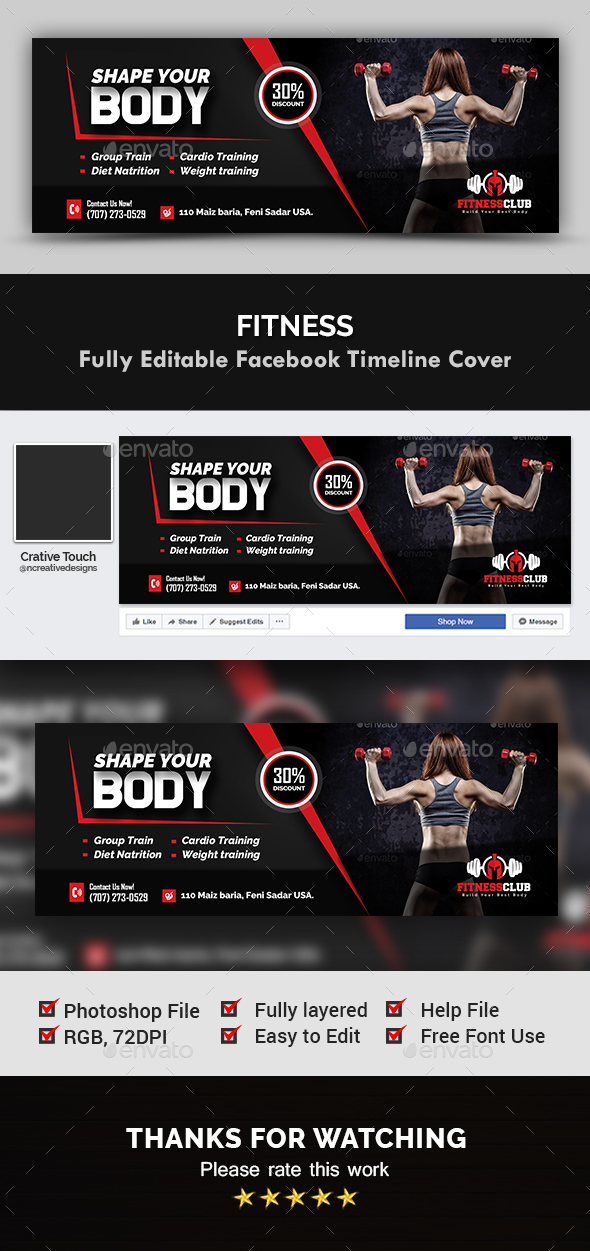 GraphicRiver Fitness Cover Templates 20705384