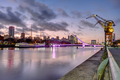 Puerto Madero in Buenos Aires after sunset