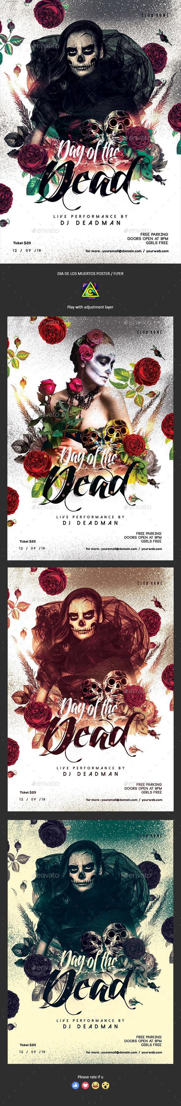 Dia De Los Muertos Poster / Flyer - Clubs & Parties Events